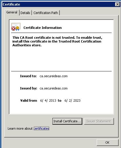 CA Certificate on Windows