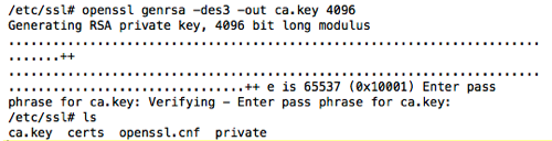 Creating the CA key