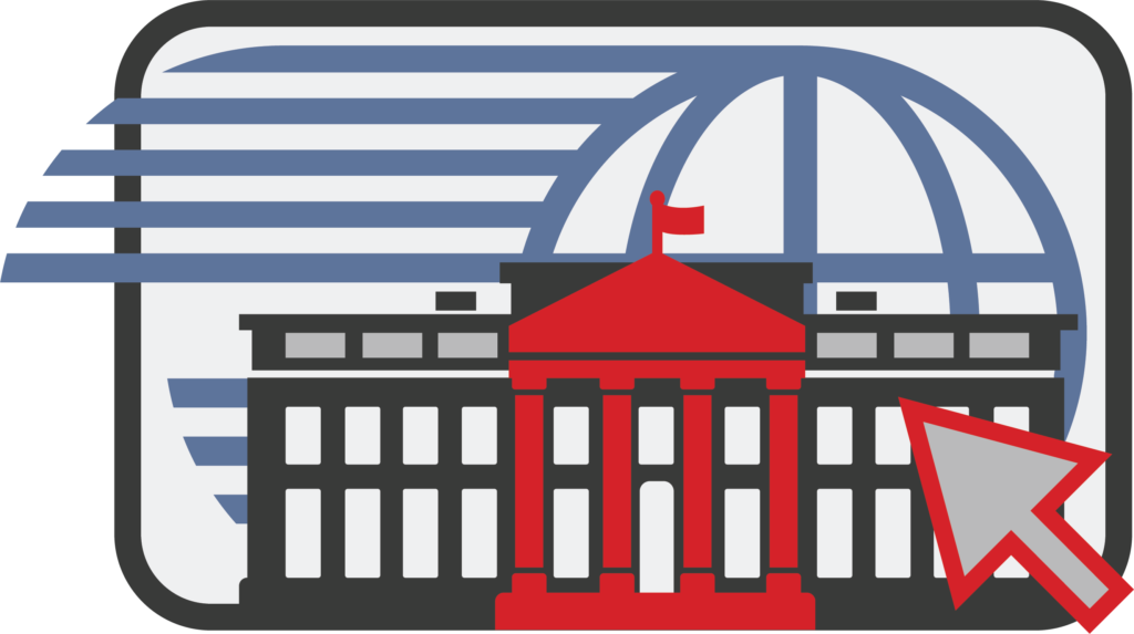 whitehouse with world wide web clipart