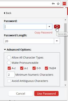 generate secure passwords