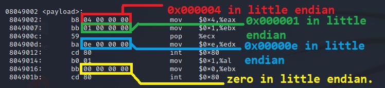 Highlighting remaining null bytes